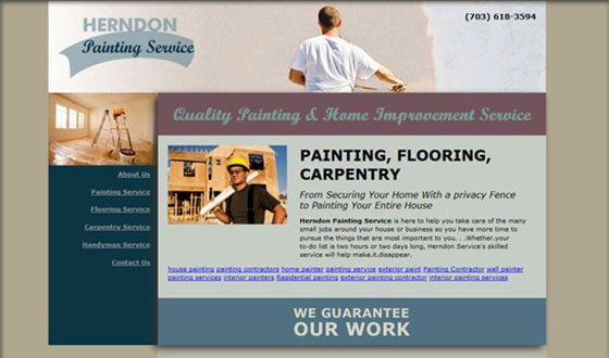 painting web design